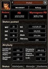 statystyki wojownika